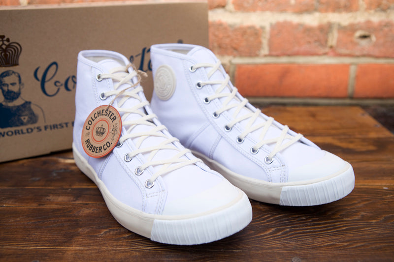 Colchester Rubber Co High Top Sneakers White
