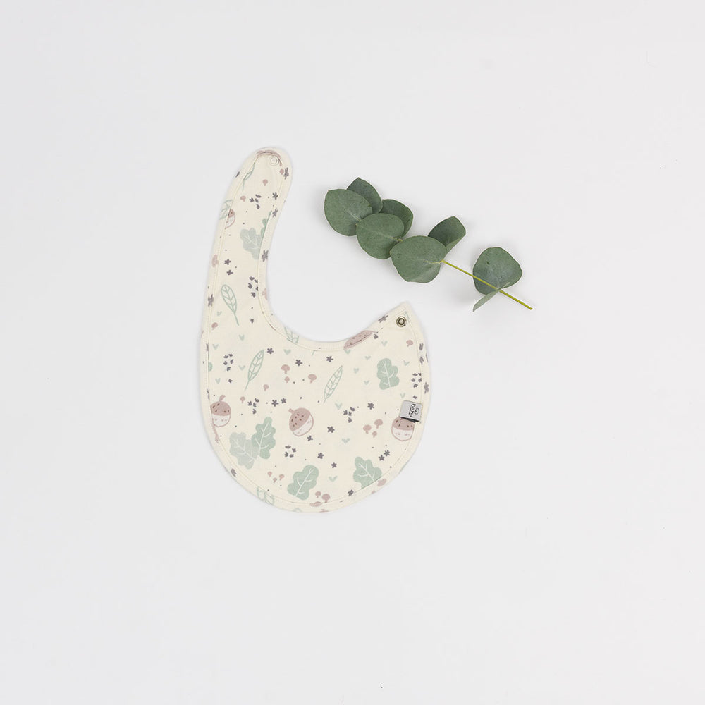 Organic Cotton Hat & Bib Set in Greenwich Park print (Limited Edition)