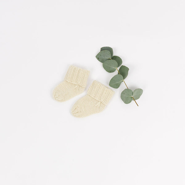 Knitted Cashmere Baby Booties