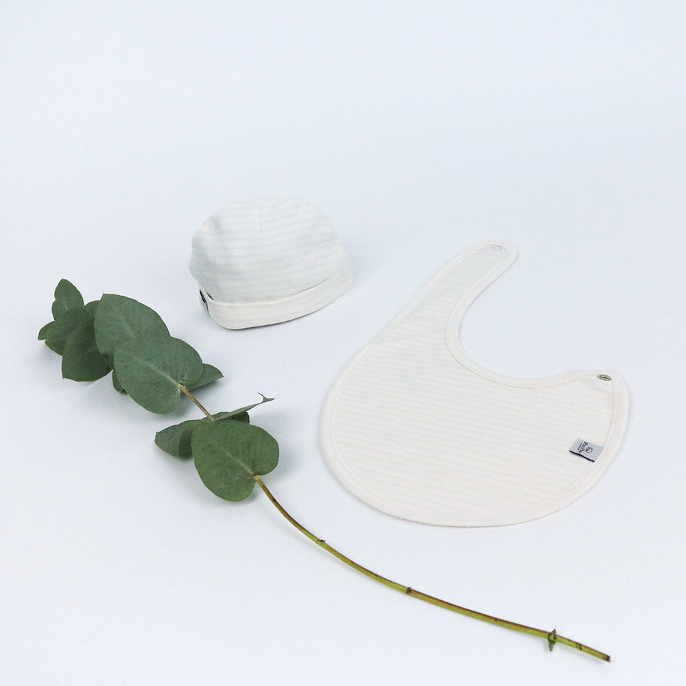 Organic Cotton Hat & Bib Set