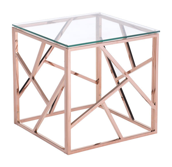 Cage Side Table Rose Gold