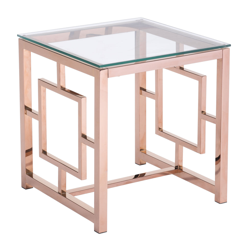 Geranium Side Table Rose Gold
