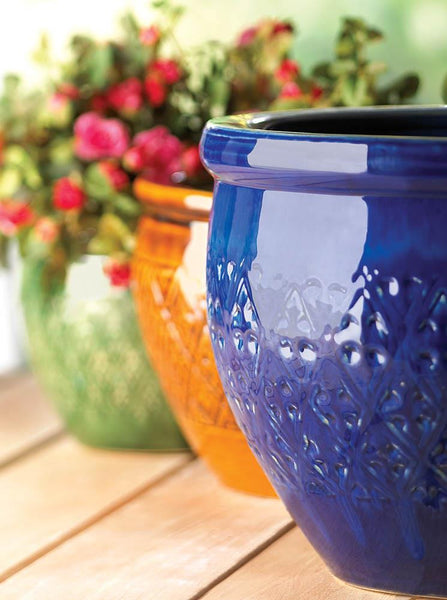 Jewel-Tone Flower Pot Trio