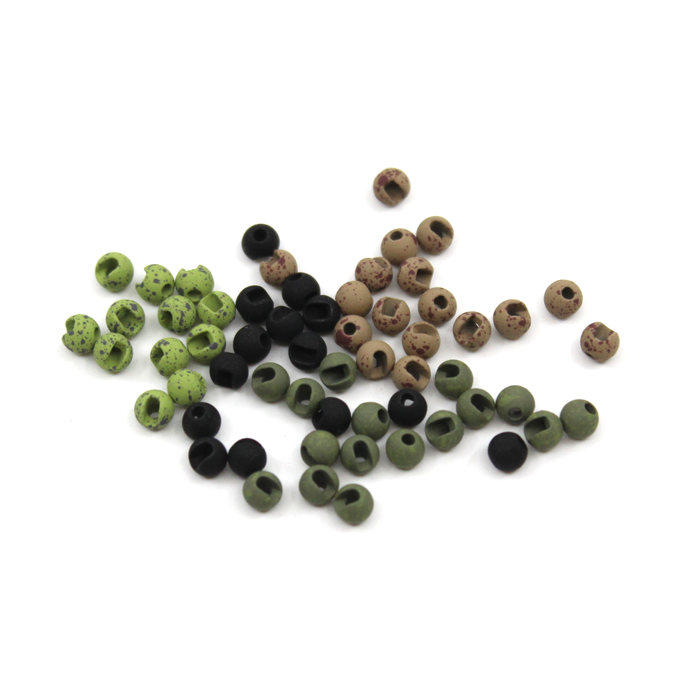 Mottled Tactical Slotted Tungsten Beads