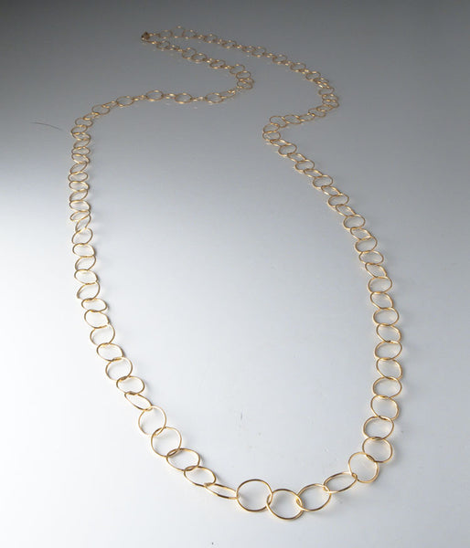 "40"" Fine Circles (gold fill)"