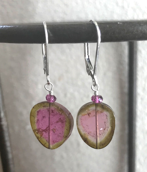 Striking Watermelon Tourmaline Earrings