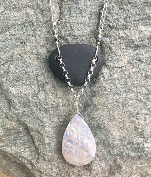 Mother of Pearl Zen Necklace