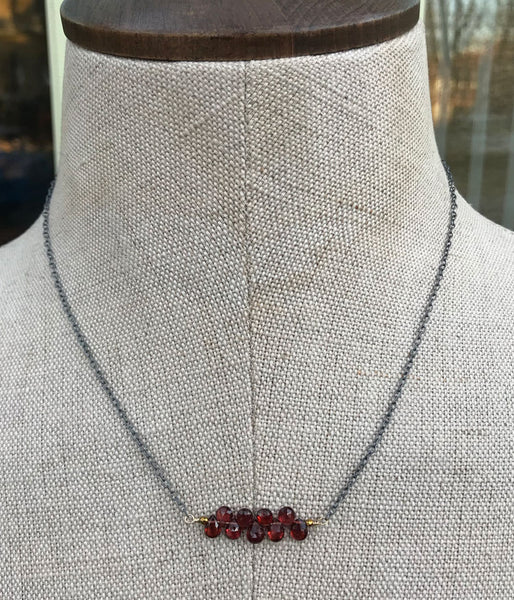 Garnet Movement Necklace