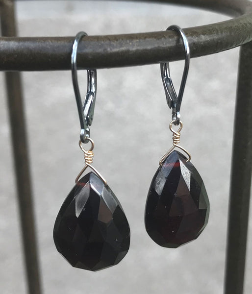 Large Garnet Earrings