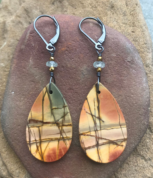 Japanese Zen Jasper Earrings