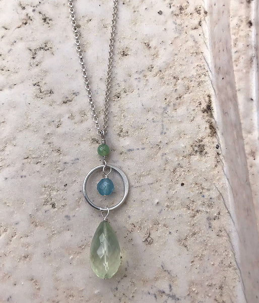 Prehnite Circle Necklace