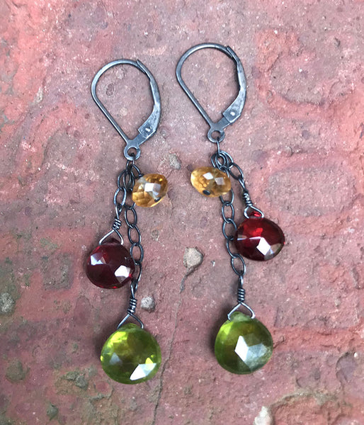 Gemstone Flow Earrings
