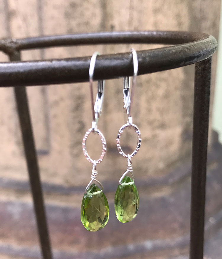 Peridot Oval Earrings