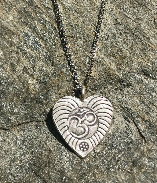 Om in my heart necklace