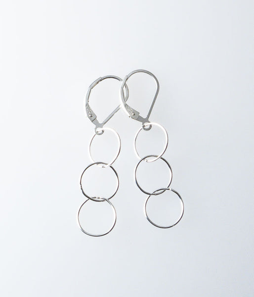 Fine Circle Earrings (sterling silver)