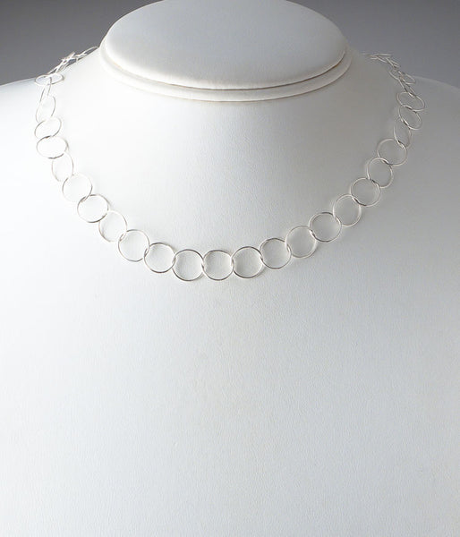 "20"" Fine Circles (sterling silver)"