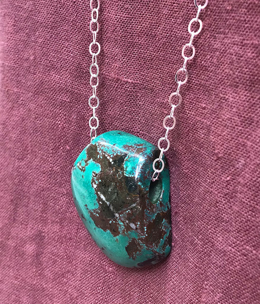 One of a Kind Chrysocolla Necklace