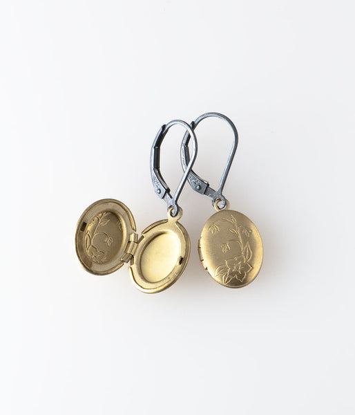 Oval Locket Earrings
