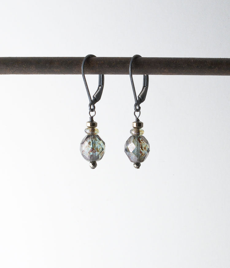 Firepolished Glass Earrings