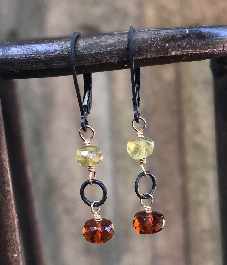 Autumn Gemstone Earrings