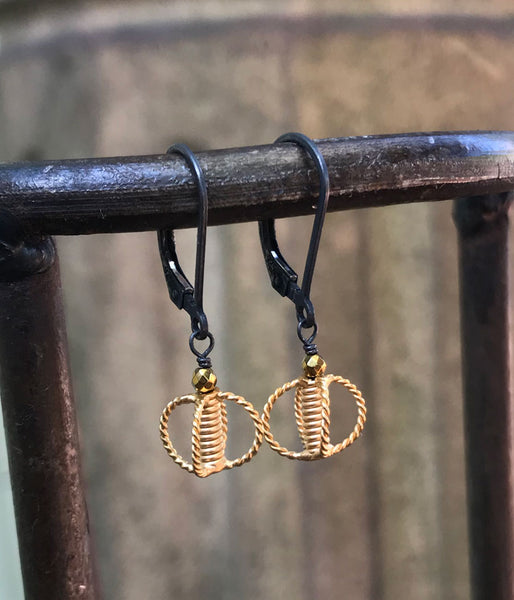 Braided Mixed Metal Simple Earrings