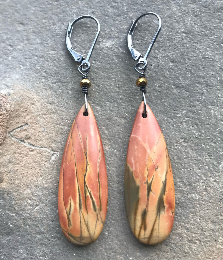 Campfire Jasper Earrings