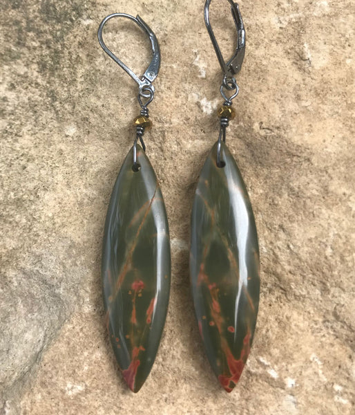 Red Creek Jasper Marquis Earrings