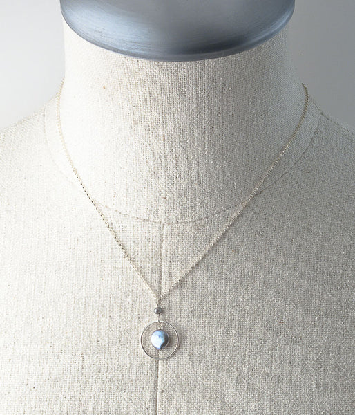 Aviva Spring Necklace (pewter)