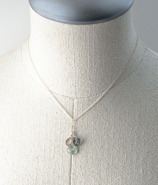 Tourmaline Cluster Necklace