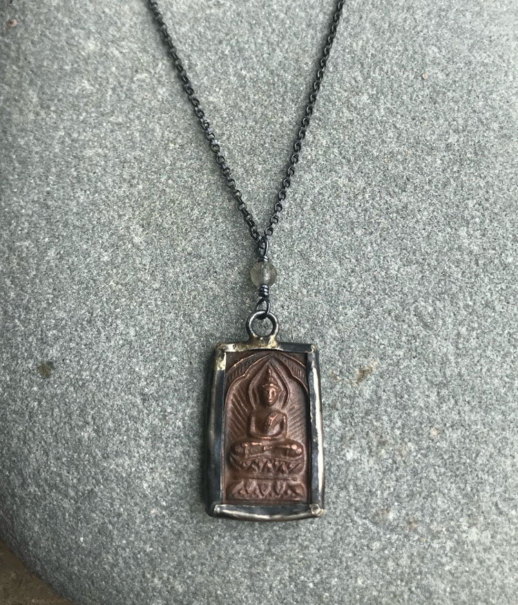 Copper Buddha Necklace