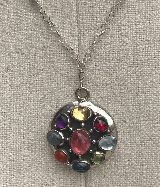 Wheel of Life Gemstone Necklace
