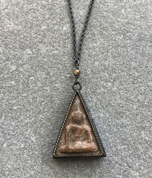 Triangular Resin Buddha Necklace