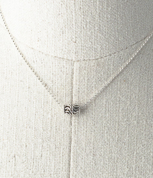Sterling silver.  Necklace, 15.75""