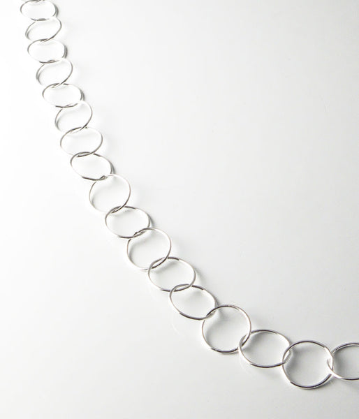 "40"" Fine Circles (sterling silver)"