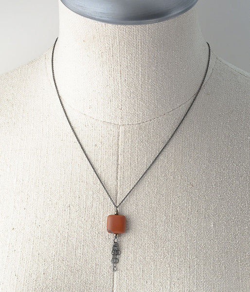 Red Jasper Fringe Necklace
