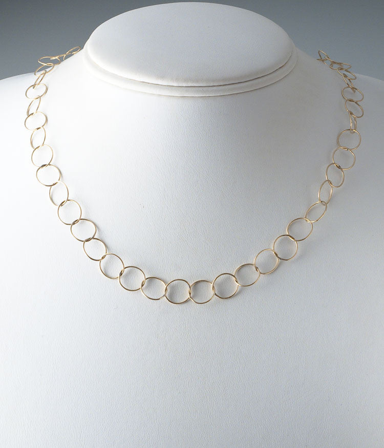 "Gold Filled 20"" Fine Circle Chain"