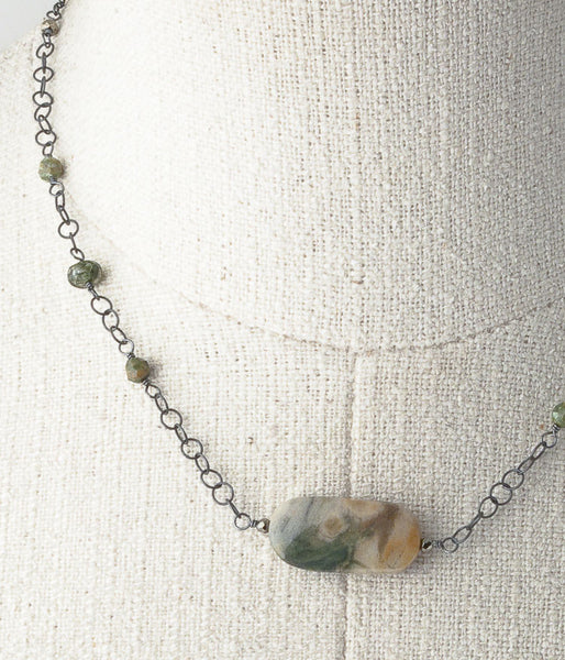 One of a Kind Petrified Wood Necklace