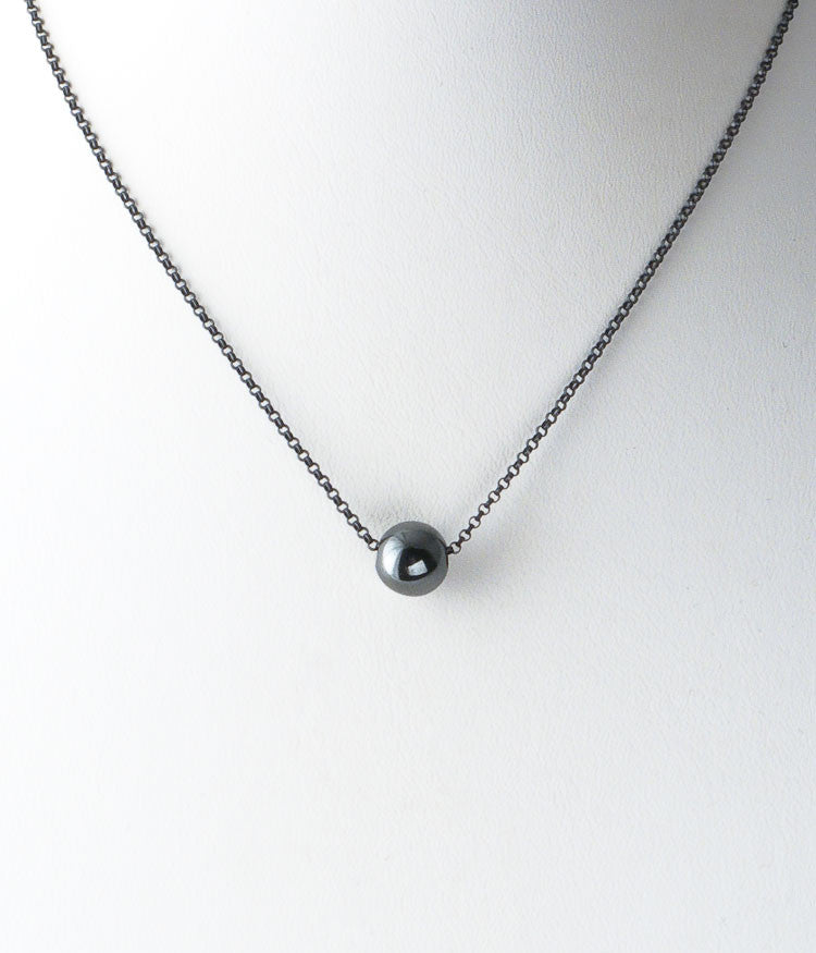 Simple Hematite Necklace