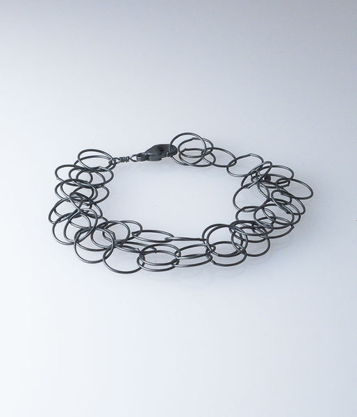 Triple Fine Sterling Bracelet (oxidized)