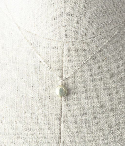 "Freshwater pearl, sterling silver.   Necklace 16"" or 18"""