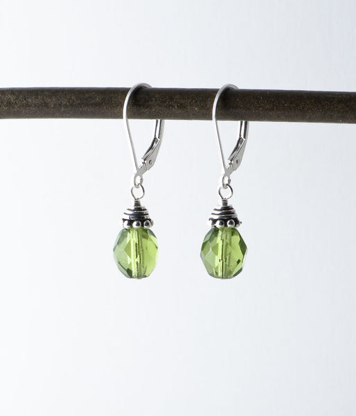 Glass & Sterling Earrings