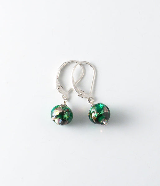 Foil Glass Earrings