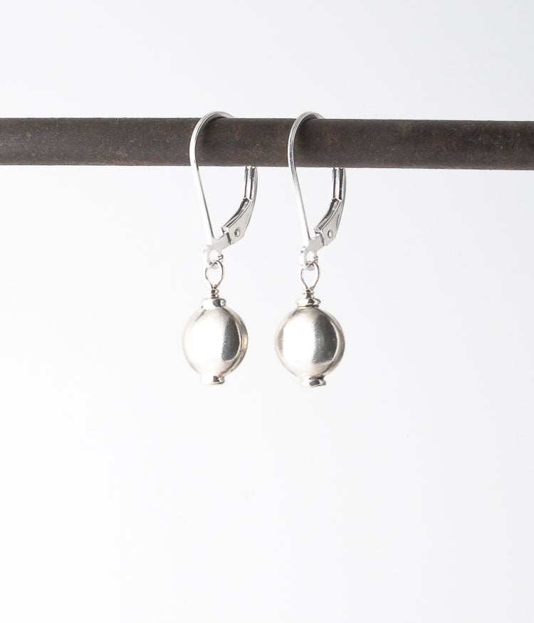 Turkish sterling silver.   Earrings, 1""