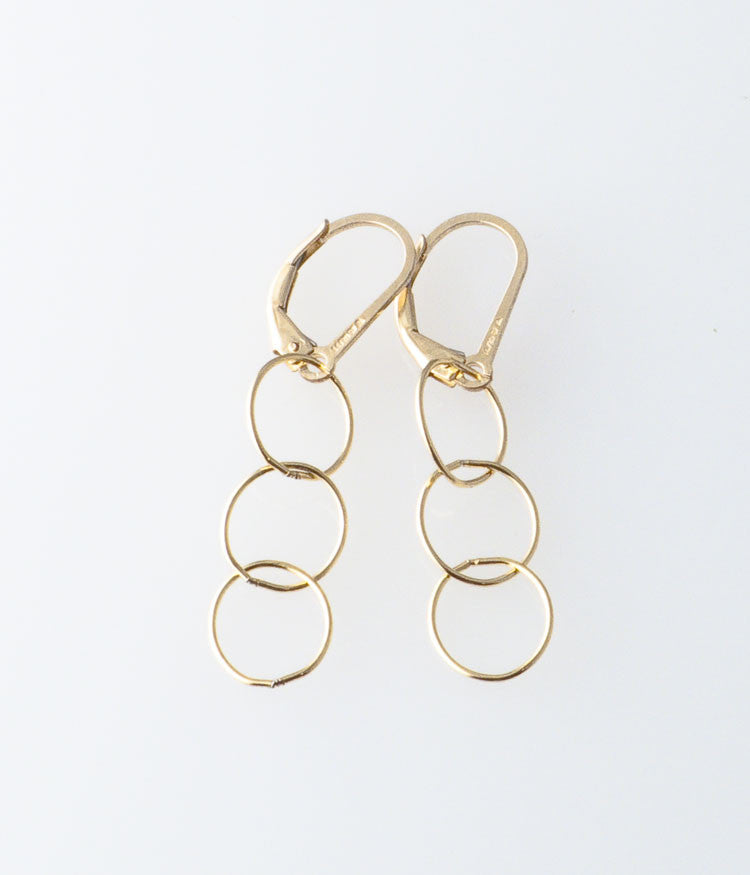 Fine Circles Earrings (gold-filled)