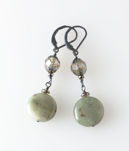 Serpentine Jade Earrings