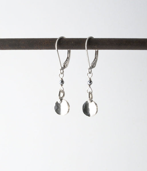 Thai fine silver, sterling silver.   Earrings, 1.25""