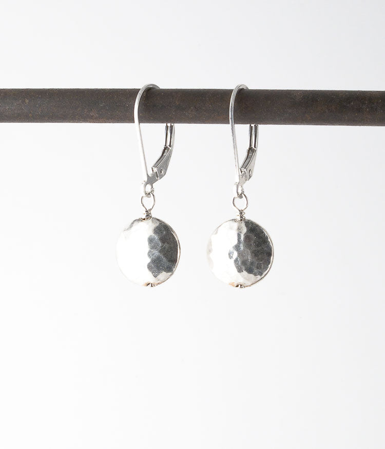 Thai fine silver, sterling silver.   Earrings, 1""
