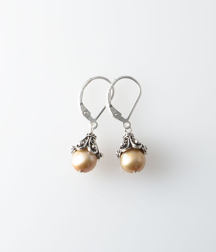 Pearl and Sterling Earrings