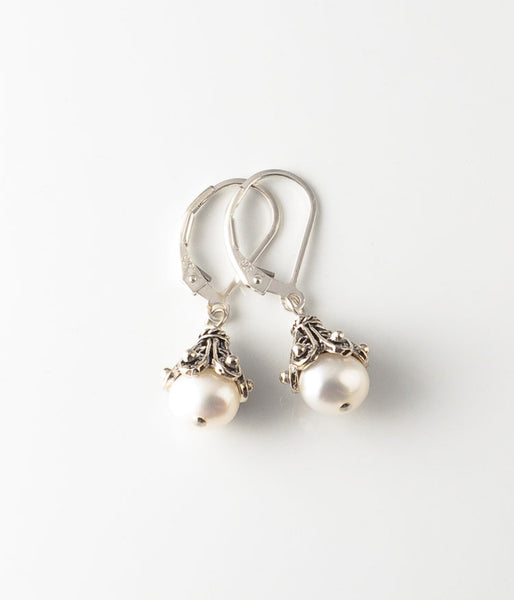 Pearl & Sterling Earrings