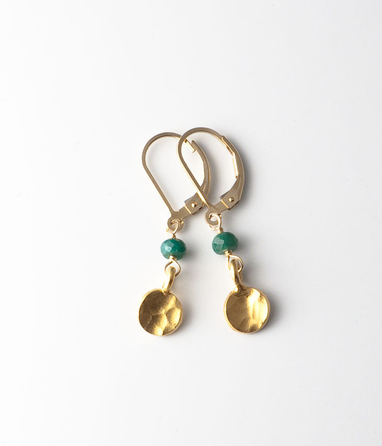 Sandra Earrings (emerald)
